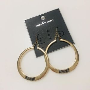 Jewelry - dangling gold hoop earrings